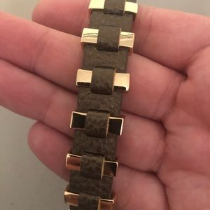 Premier Designs brown leather bracelet